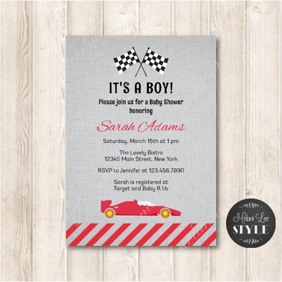 printable race car baby shower