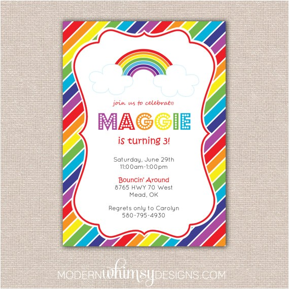 rainbow birthday stripes theme party