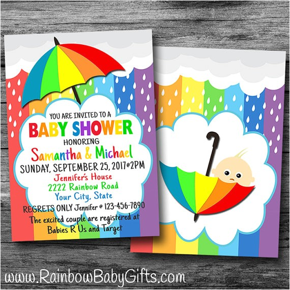 rainbow baby announcement cards and ts