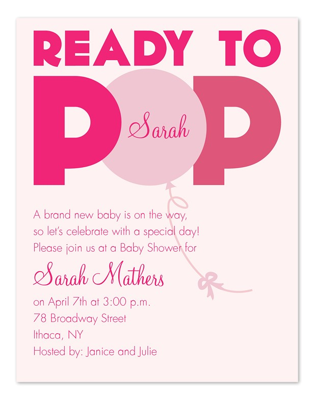 Ready to Pop Baby Shower Invitations Free Ready to Pop Baby Shower Invitations by Invitation