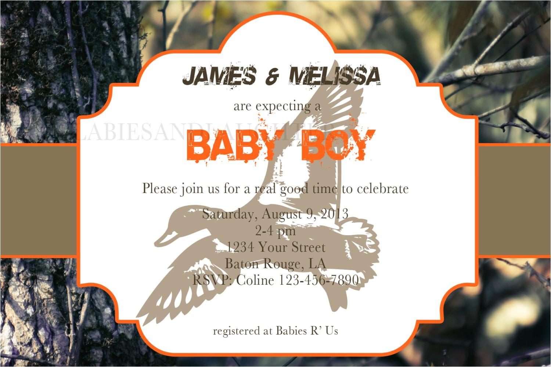 Realtree Camo Baby Shower Invitations Boy Realtree Camo Baby Shower Invitation by