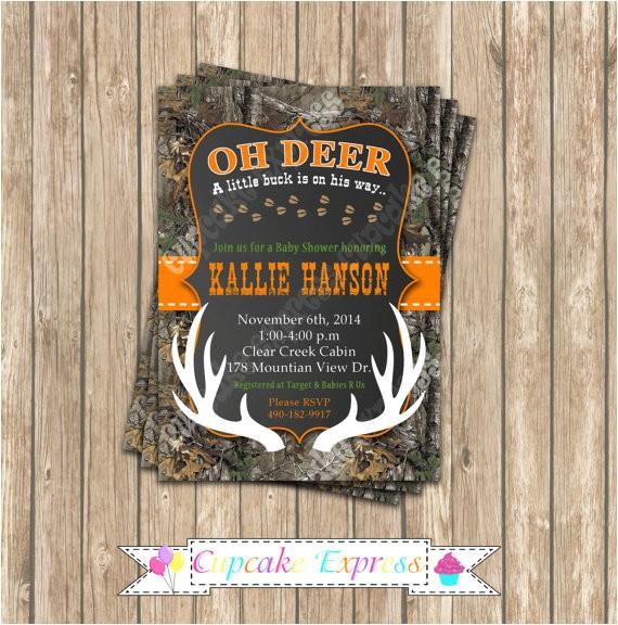 camo baby shower boy deer hunting 2