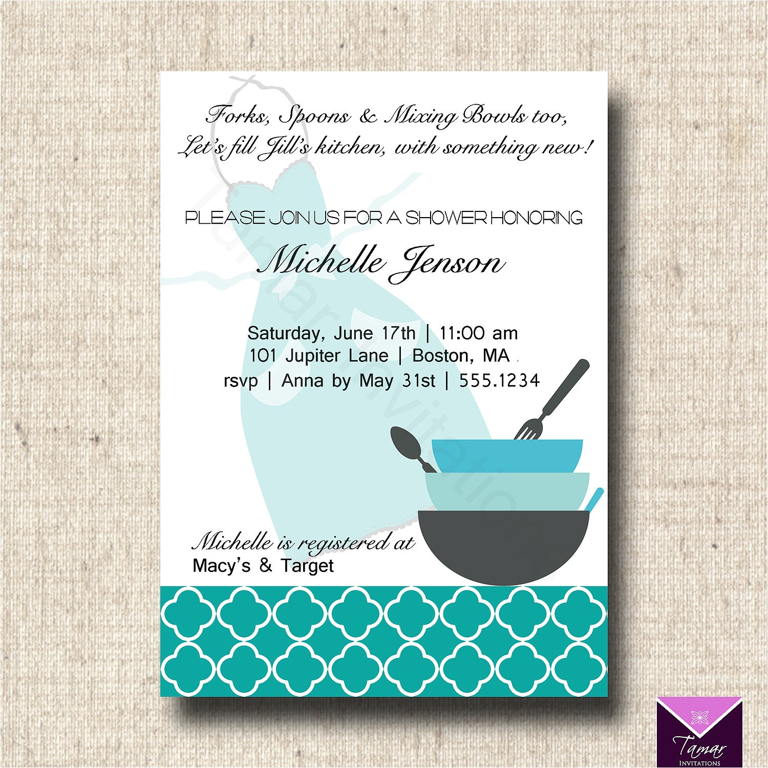 printable bridal shower invitation and