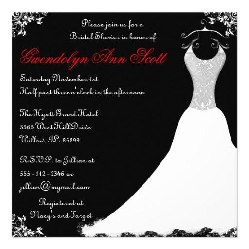 red black wedding invitations