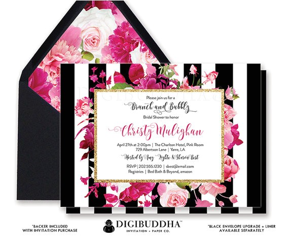 brunch bubbly invitation bridal shower
