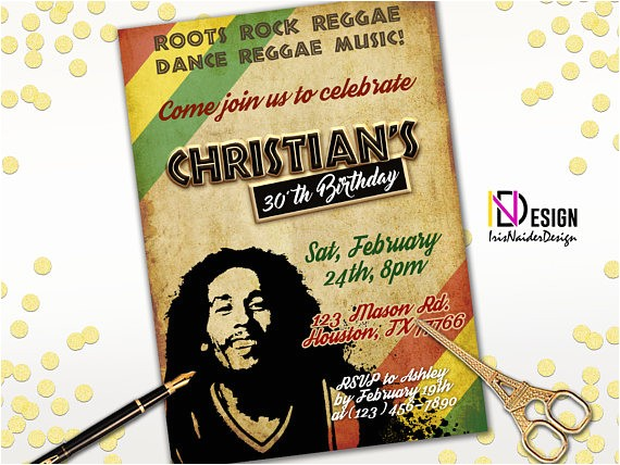 reggae birthday invitation reggae invitation rasta