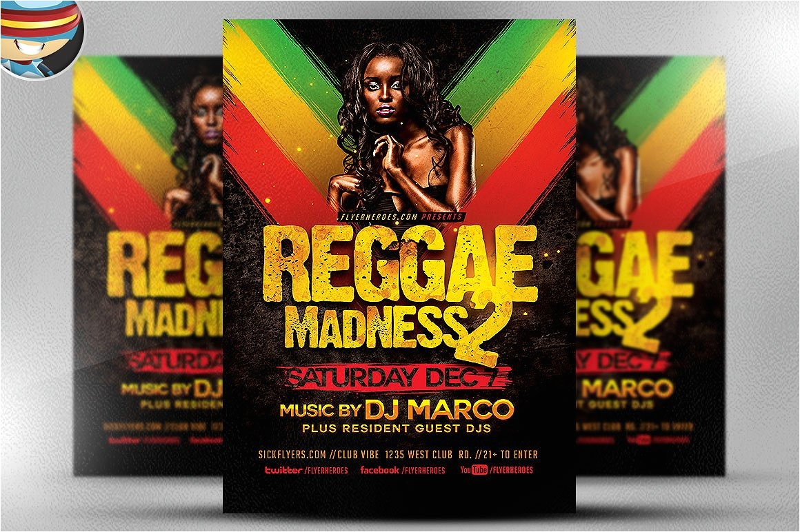Reggae Madness Flyer Template