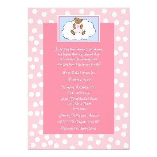 baby shower invitation wording christian