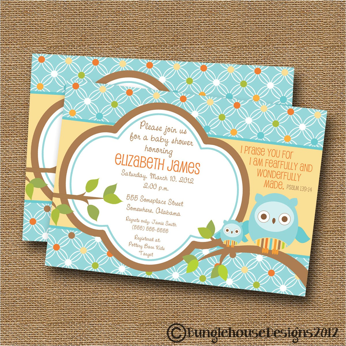 owl baby shower invitation diy printable