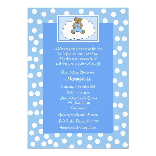 "Religious Baby Shower Invitations Christian Religious Baby Shower Invitation Blue 5"" X 7"