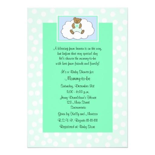 christian religious baby shower invitation green