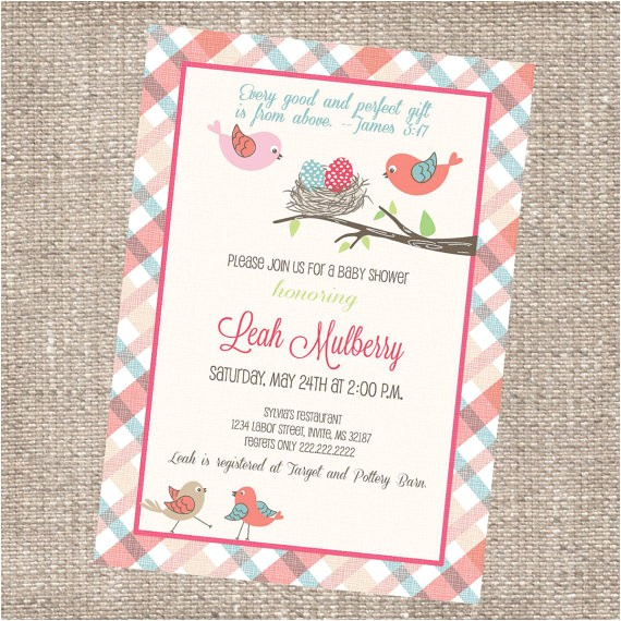 modern christian baby shower invitation