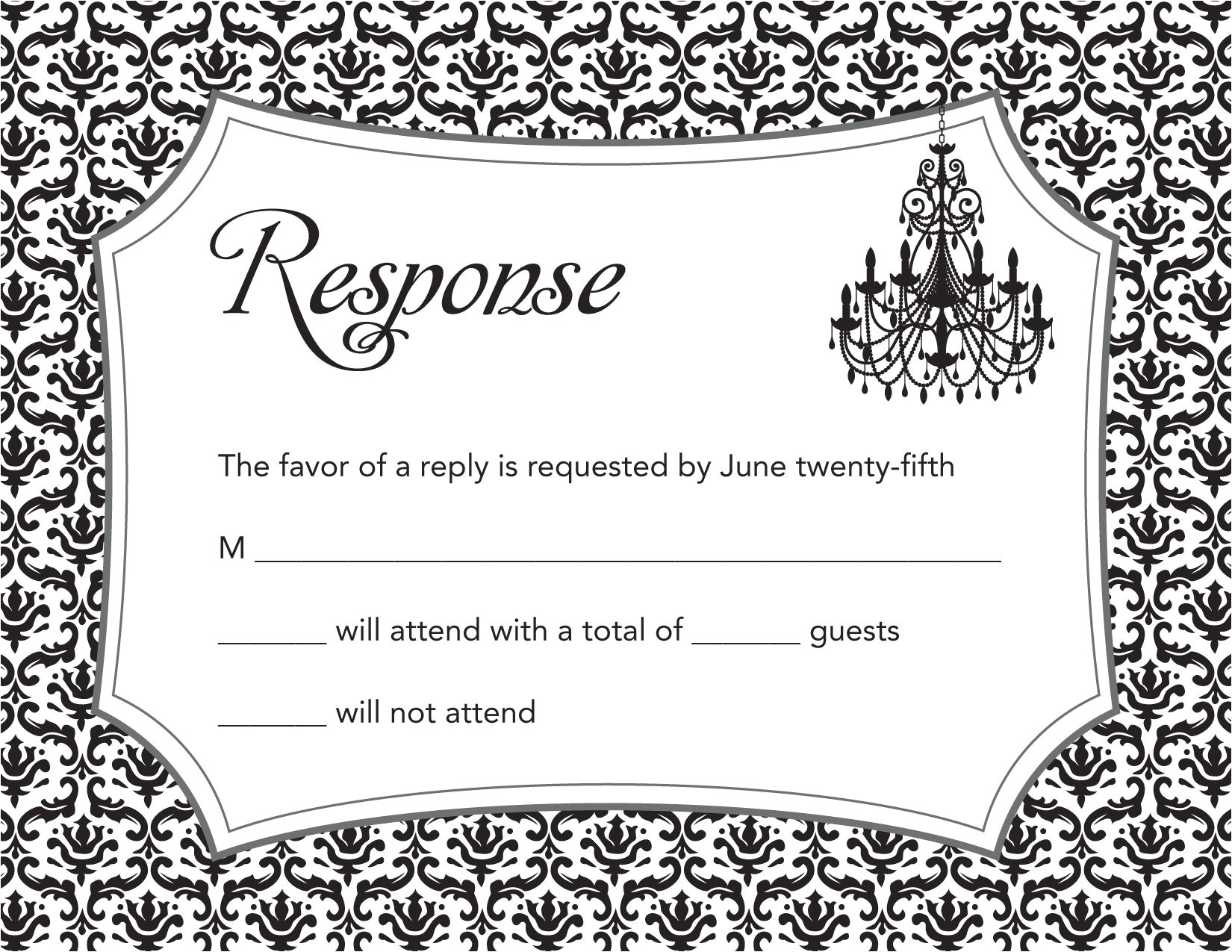 birthday party invitations with response cards