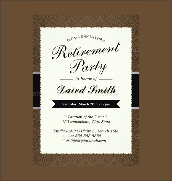 Retirement Party Invitation Examples 12 Retirement Party Invitations