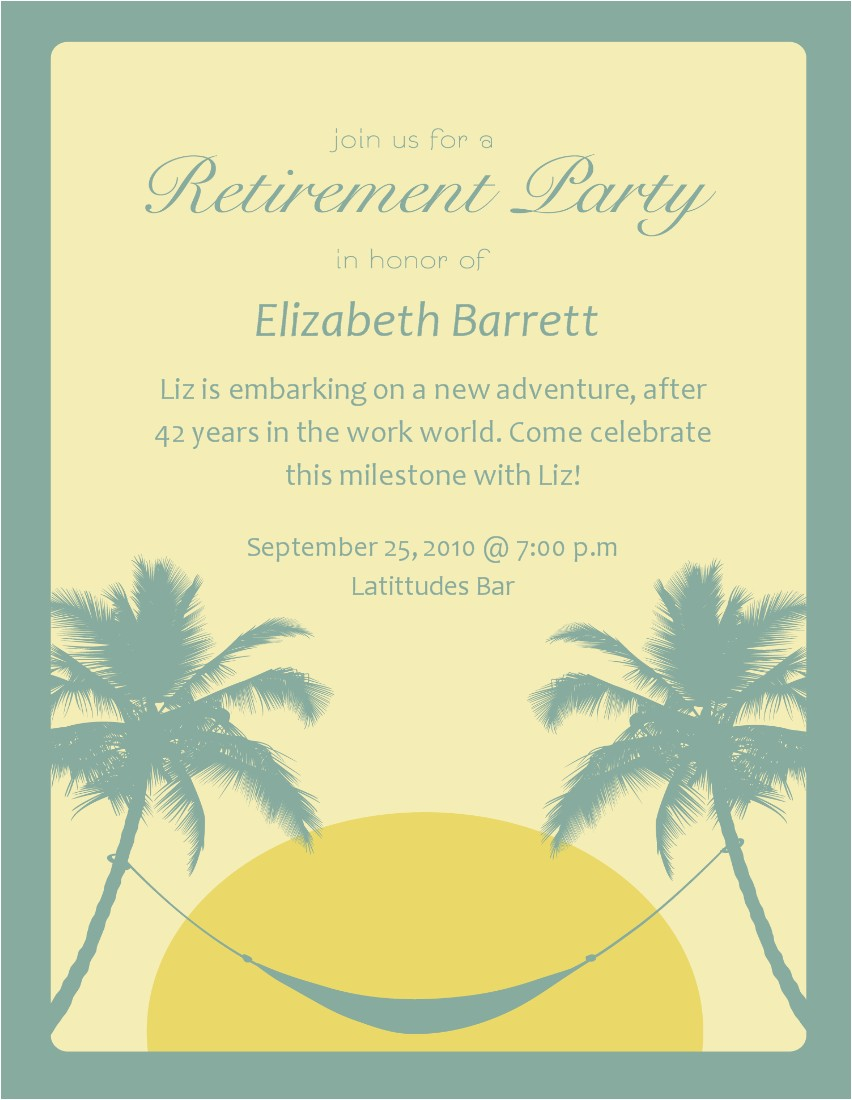 18 awesome examples of farewell and retirement invitation card and wordings