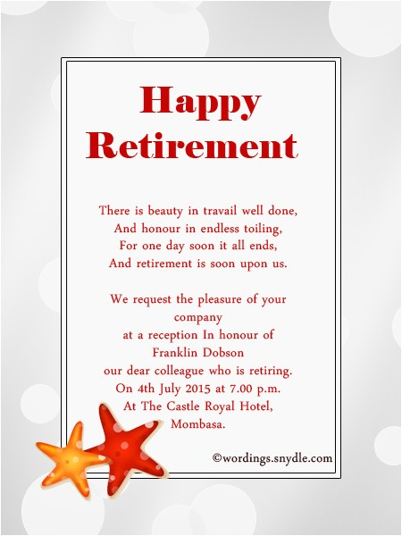 Retirement Party Invitation Wording Retirement Party Invitation Wording Ideas and Samples