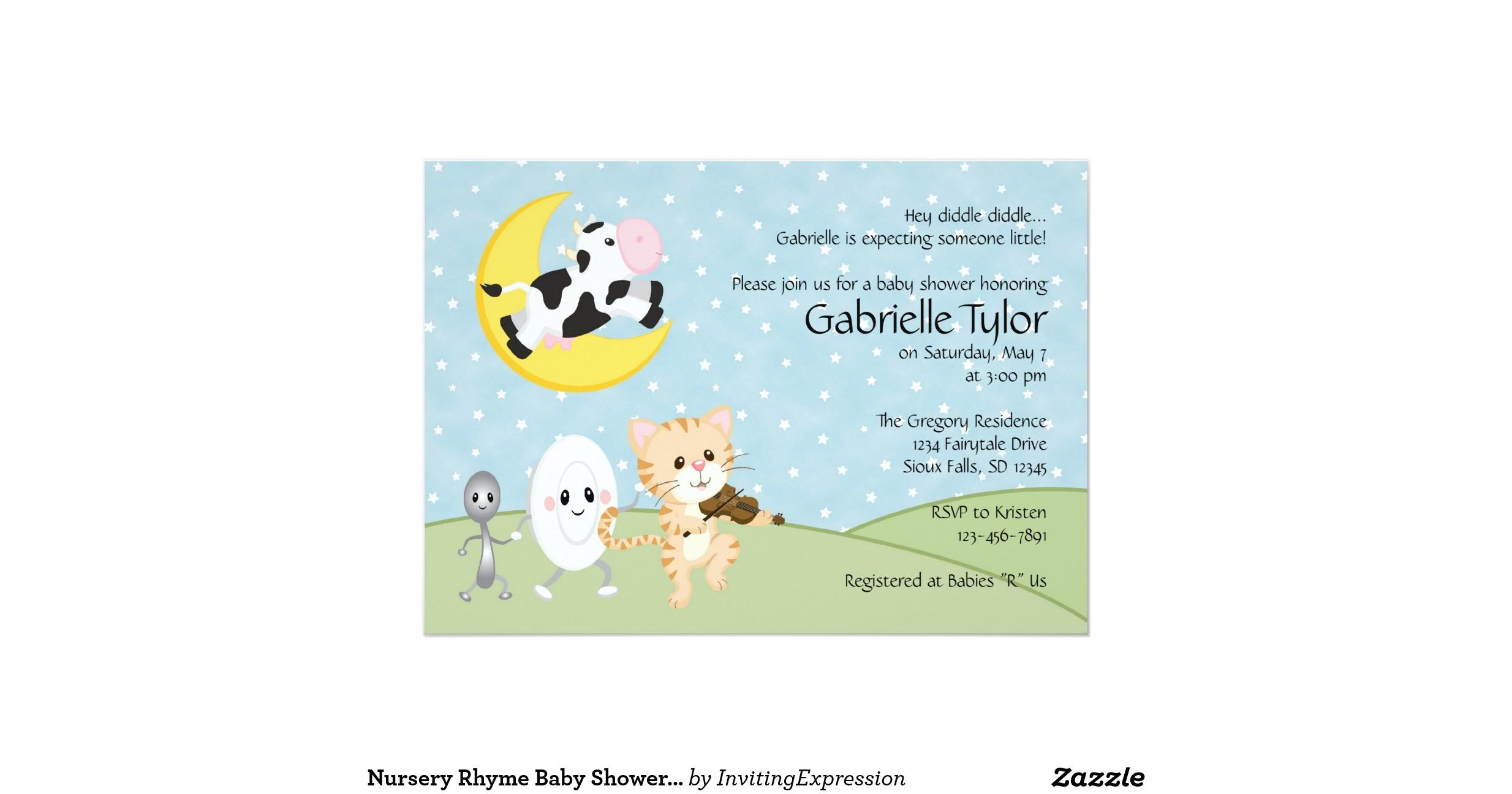Rhyming Baby Shower Invitations Nursery Rhyme Baby Shower Invitations