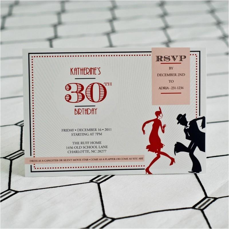 vintage roaring 20s birthday party invitation
