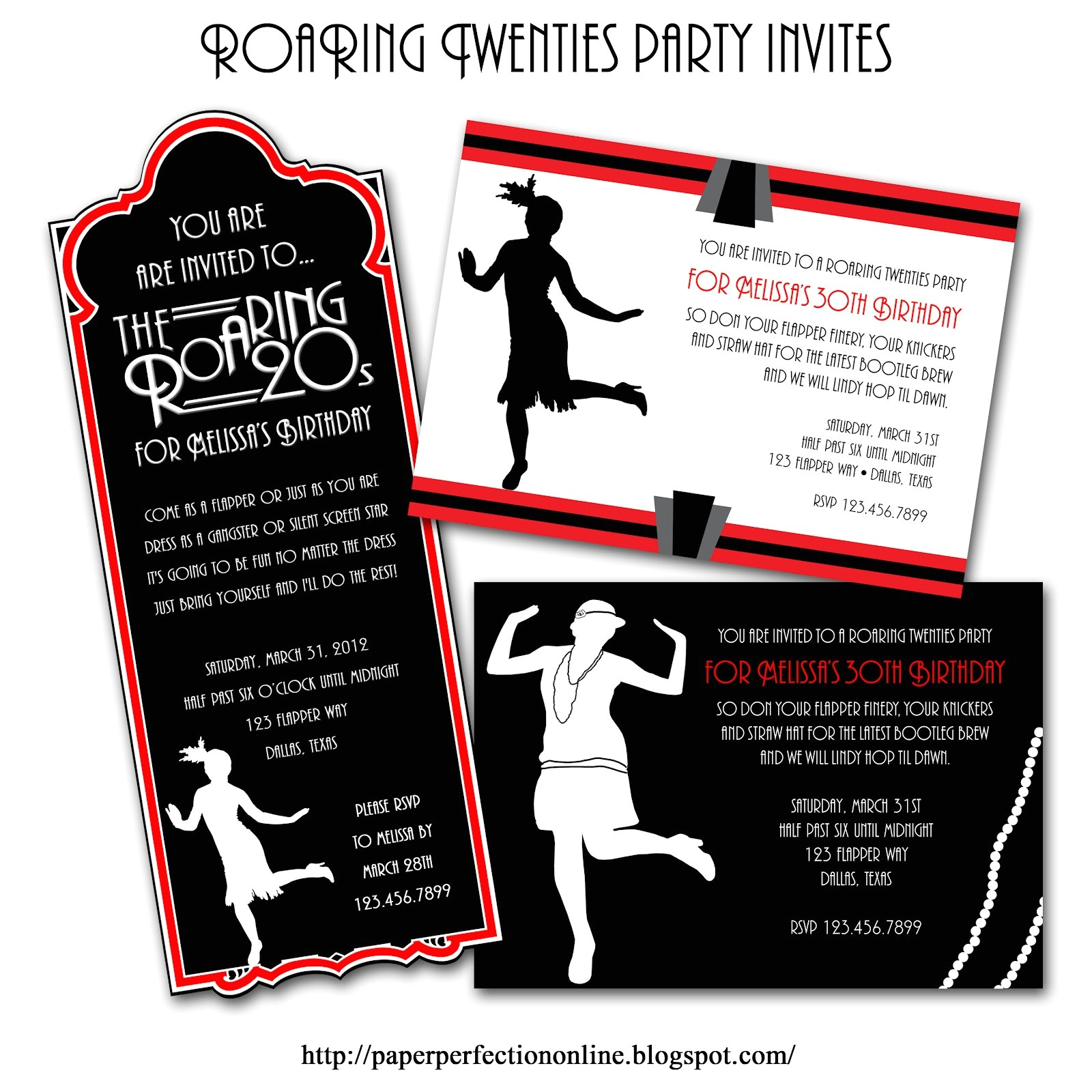 roaring twenties party invitations