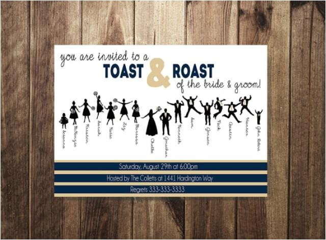 engagement party invitation bride and groom roast and toast couples party couples shower bridal shower invite silhouette diy printable