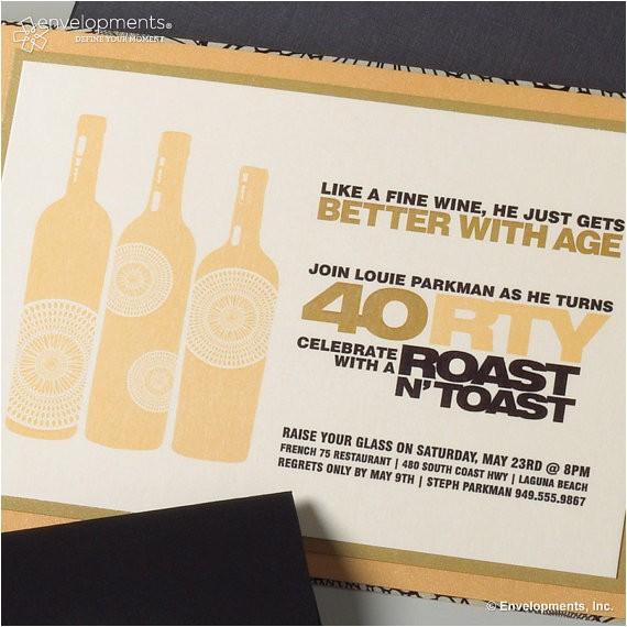 40th birthday invitation roast toast
