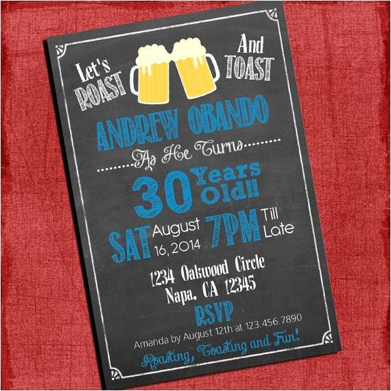 roast and toast beer cheers chalkboard