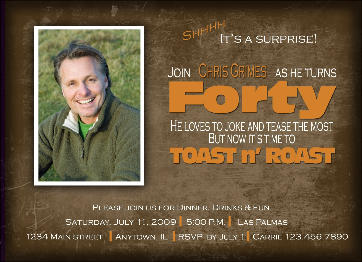toast n roast birthday invitation
