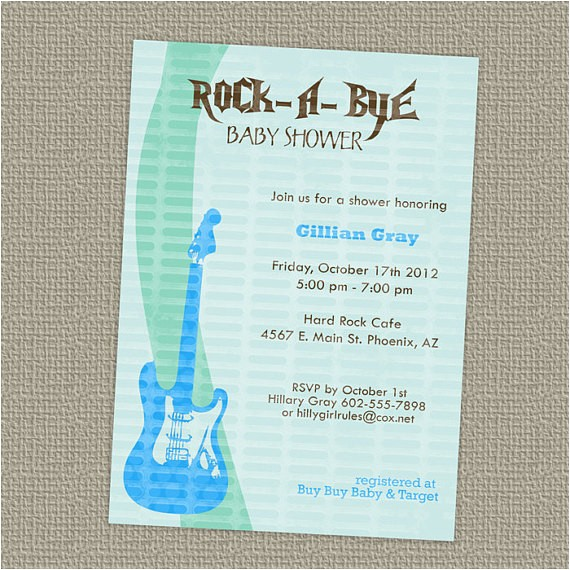 rock a bye baby boy shower invitation