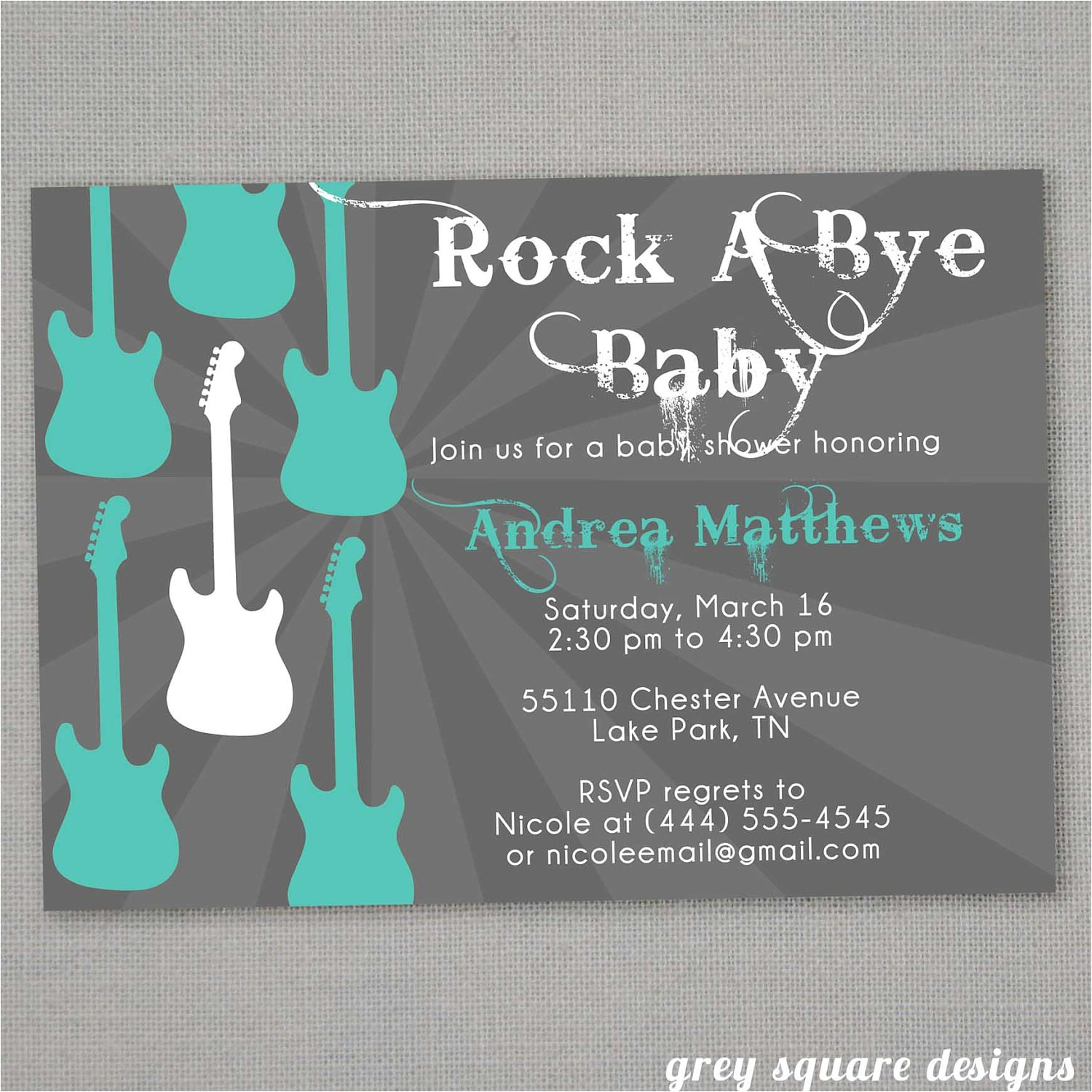Rock A bye Baby Shower Invitations Rock A bye Baby Shower Invitation by Greysquare On Etsy