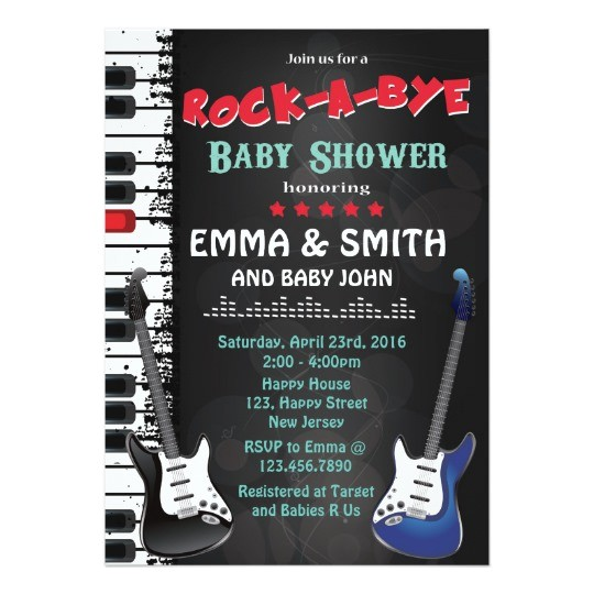 rock a bye baby shower invitation