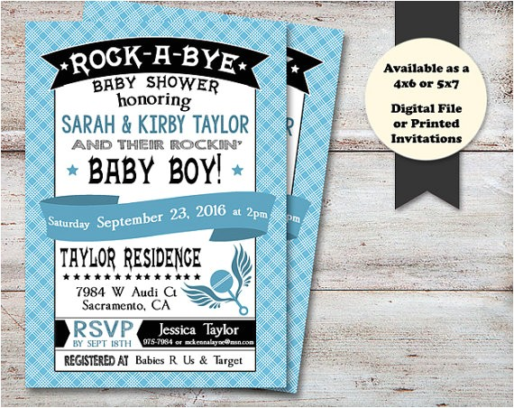 rock bye baby shower musical baby 2