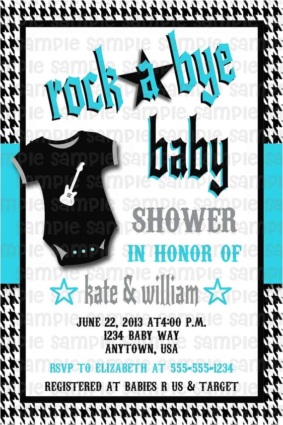 rock a bye baby rockabilly baby shower