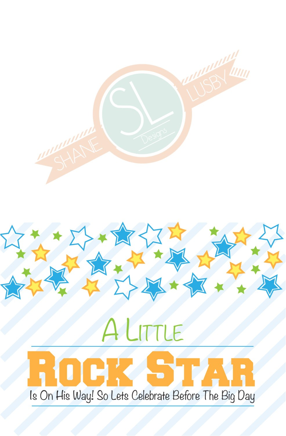 Rock Star Baby Shower Invitations Rock Star Baby Shower Invitations Made to order by Smlstudio