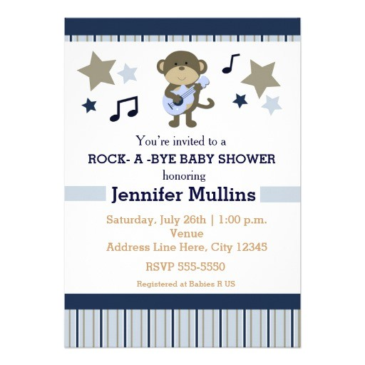 rockstar baby shower invitations