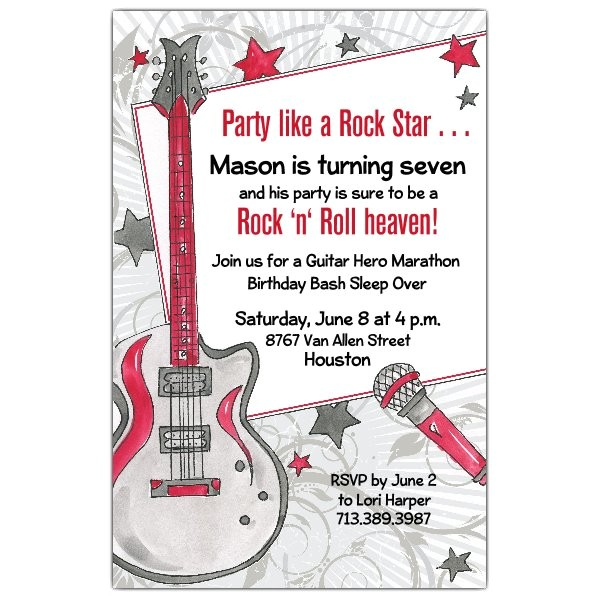 party like a rock star invitations p 622 58 437ev