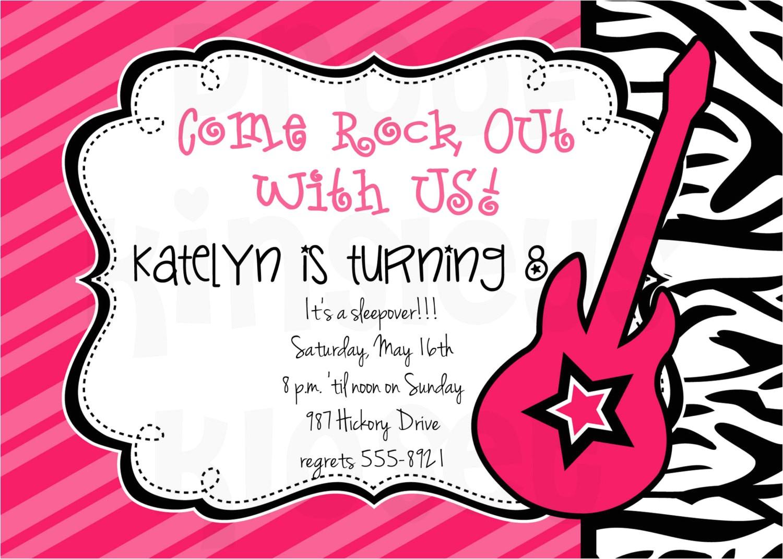 rockstar invitation rockstar party