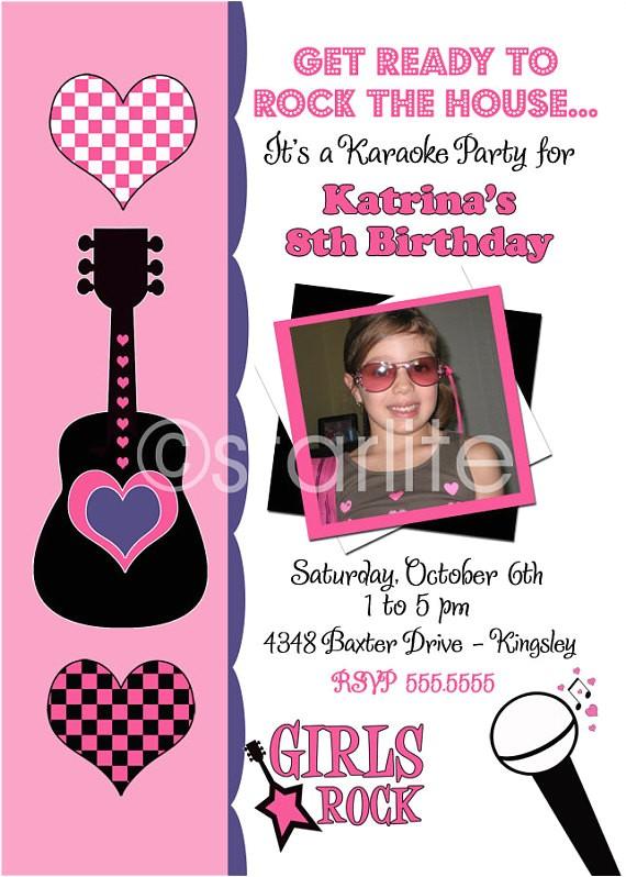 karaoke pop rock star birthday party