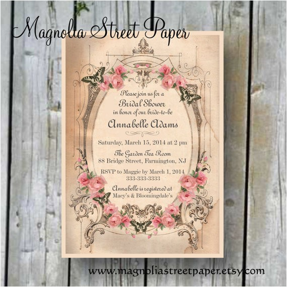 room to room bridal shower invitations