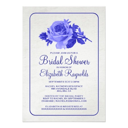 bridal shower invitations royal blue