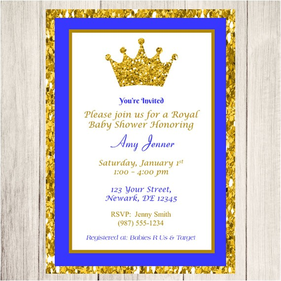 Royal Prince Baby Shower Invitations Prince Baby Shower Invitation Royal Prince Baby Shower
