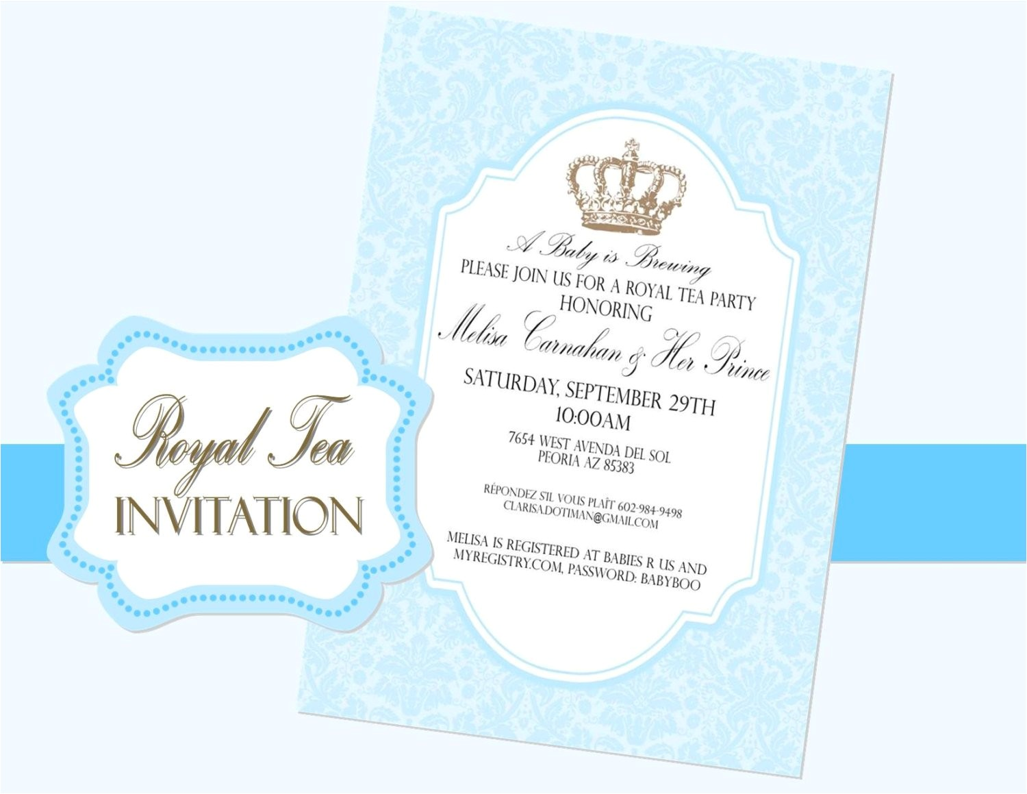 copy of royal tea invitation purple crown invite purple wedding