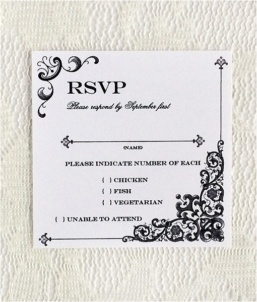 rsvp invitation template