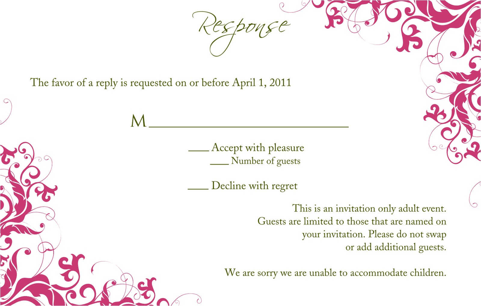 wedding invitation and rsvp templates