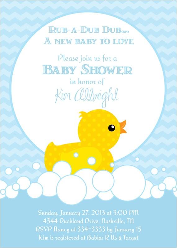 Rubber Duck Baby Shower Invites Baby Shower Invitations Rubber Ducky Baby Shower