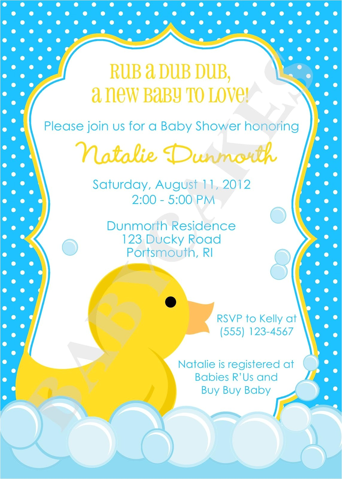 images recipes for rubber duckie shower