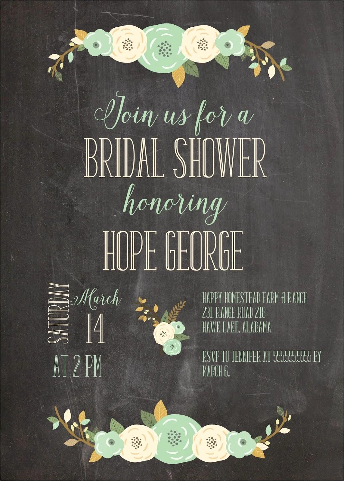 etsy wedding shower invitations