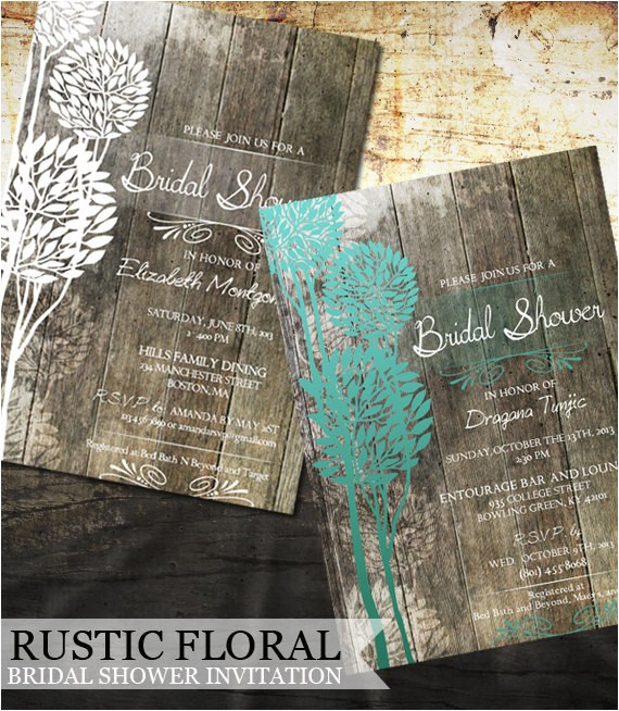 rustic bridal shower invitation by oddlotemporium on etsy com