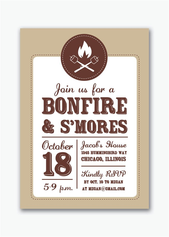bonfire and smores campfire party