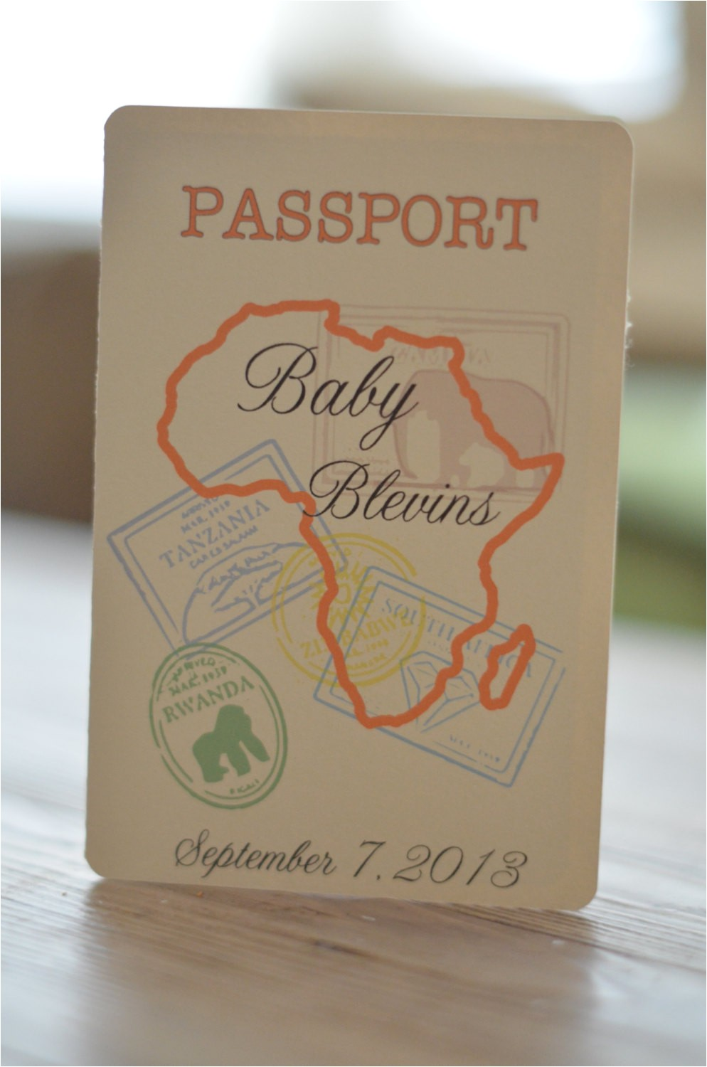 baby shower safari passport invitation