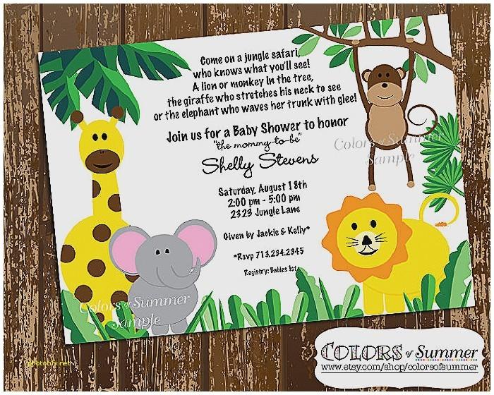 giraffe baby shower invitations template
